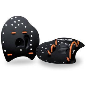 Head Flat Plaquettes de natation, black/orange